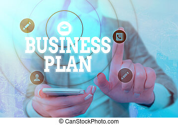 Word writing text Business Plan. Business concept for Structural Strategy Goals and Objectives Financial Projections.