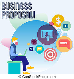 Word writing text Business Proposal. Business concept for...