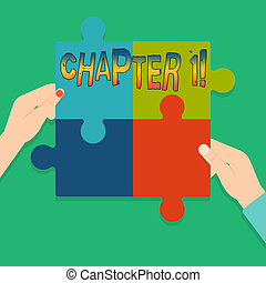 Word writing text Chapter 1. Business concept for Starting something new or making a big changes in ones journey.