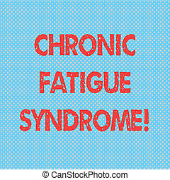 Word writing text Chronic Fatigue Syndrome. Business concept for debilitating disorder described by extreme fatigue Seamless Polka Dots Pixel Effect for Web Design and Optical Illusion.