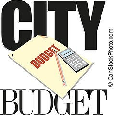 Word writing text city budget Vector illustration
