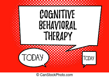 Handwriting text cognitive behavioral therapy  concept meaning