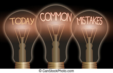 Word writing text Common Mistakes. Business concept for ...