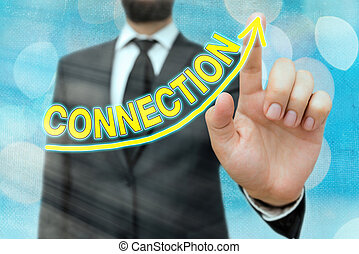 Word writing text Connection. Business concept for ...
