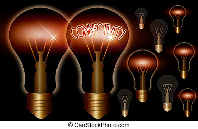 Word writing text Connectivity. Business concept for quality...
