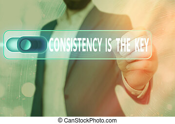 Word writing text Consistency Is The Key. Business concept ...