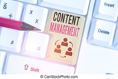 Word writing text Content Management. Business concept for ...