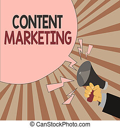 Word writing text Content Marketing. Business concept for Involves the creation and sharing of online material