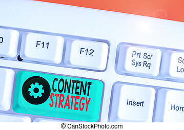 Word writing text Content Strategy. Business concept for the...