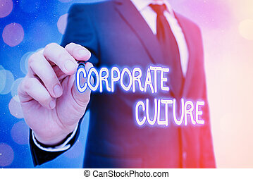 Word writing text Corporate Culture. Business concept for ...
