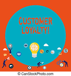 Word writing text Customer Loyalty. Business concept for Client Satisfaction LongTerm relation Confidence.