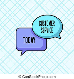 Word writing text Customer Service. Business concept for...