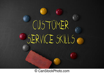 Word writing text Customer Service Skills. Business concept ...