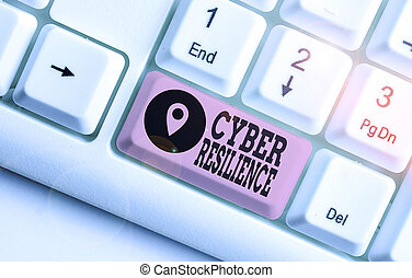 Word writing text Cyber Resilience. Business concept for ...