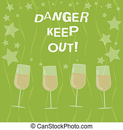 Word writing text Danger Keep Out. Business concept for ...