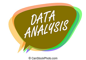 Word writing text Data Analysis. Business concept for...