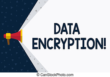 Word writing text Data Encryption. Business concept for...