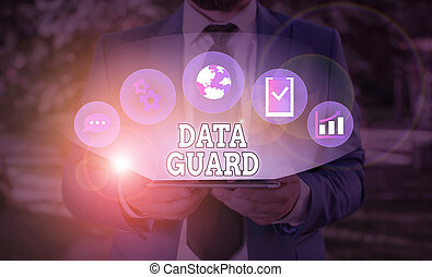 Word writing text Data Guard. Business concept for ...
