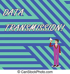 Word writing text Data Transmission. Business concept for...