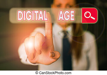 Word writing text Digital Age. Business concept for ...