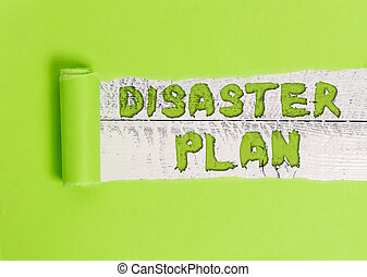 Word writing text Disaster Plan. Business concept for Respond to Emergency Preparedness Survival and First Aid Kit.