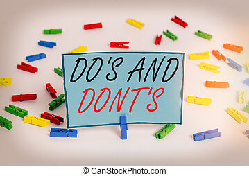 Word writing text Do Is And Dont Is. Business concept for ...
