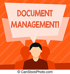 Word writing text Document Management. Business concept for ...