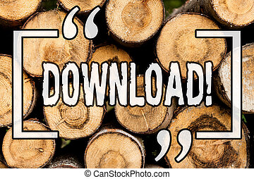 Word writing text Download. Business concept for Saving multiple file attachments to local harddisk drive location Wooden background vintage wood wild message ideas intentions thoughts.