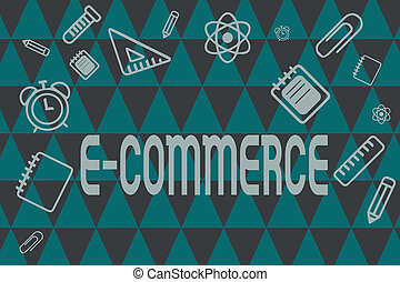 Word writing text E Commerce. Business concept for...