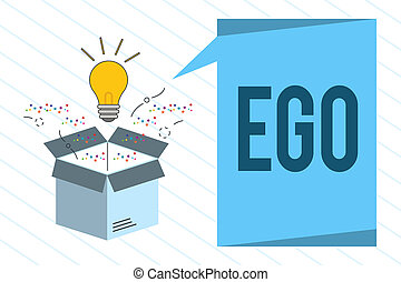 Word writing text Ego. Business concept for Sense of ...