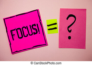 Word writing text Focus Motivational Call. Business concept ...