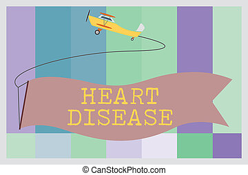 Word writing text Heart Disease. Business concept for Heart disorder Conditions that involve blocked blood vessels