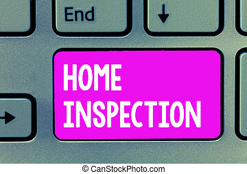 Word writing text Home Inspection. Business concept for Examination of the condition of a home related property