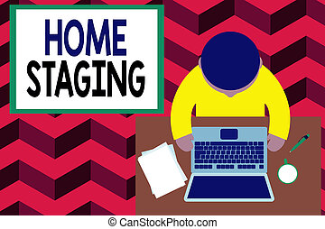 Word writing text Home Staging. Business concept for Act of ...