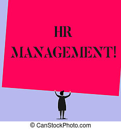 Word writing text Hr Management. Business concept for ...