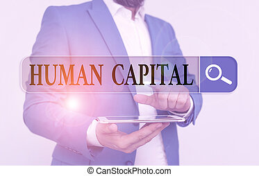 Word writing text Huanalysis Capital. Business concept for ...