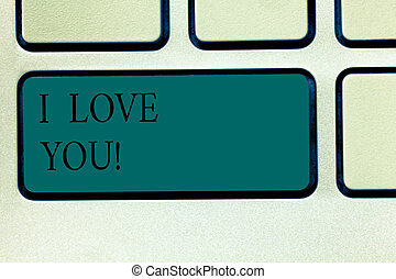 Word writing text I Love You. Business concept for ...