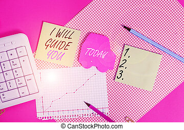Word writing text I Will Guide You. Business concept for ...