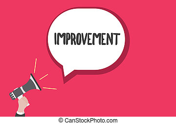Word writing text Improvement. Business concept for Make things better Grow Special changes Innovation Progress