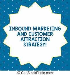 Word writing text Inbound Marketing And Customer Attraction Strategy. Business concept for Promote your product Fourteen 14 Pointed Star shape with Thin outline Zigzag effect Polygon.