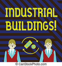 Word writing text Industrial Buildings. Business concept for...