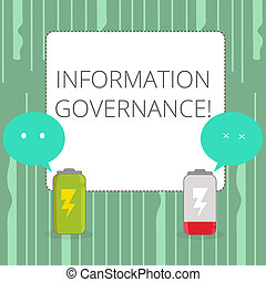 Word writing text Information Governance. Business concept ...