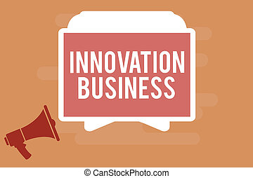 5126d0be30e27 Word writing text Innovation Business. Business concept for Introduce New  Ideas Workflows Methodology Services
