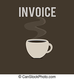 Word writing text Invoice. Business concept for List of goods sent services provided with sums Financial statement