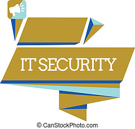 Word writing text It Security. Business concept for Protection of internet connected systems from cyber attacks