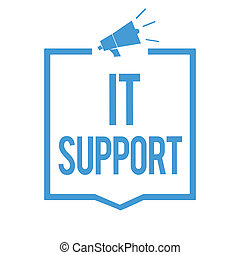 Word writing text It Support. Business concept for Lending...