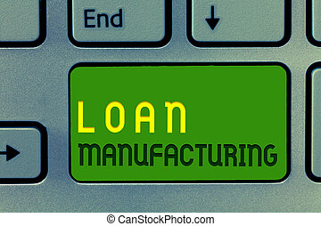 Word writing text Loan Manufacturing. Business concept for...