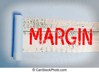 Word writing text Margin. Business concept for extra amount ...