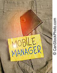 Word writing text Mobile Manager. Business concept for ...
