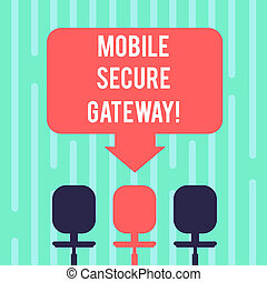 Word writing text Mobile Secure Gateway. Business concept...